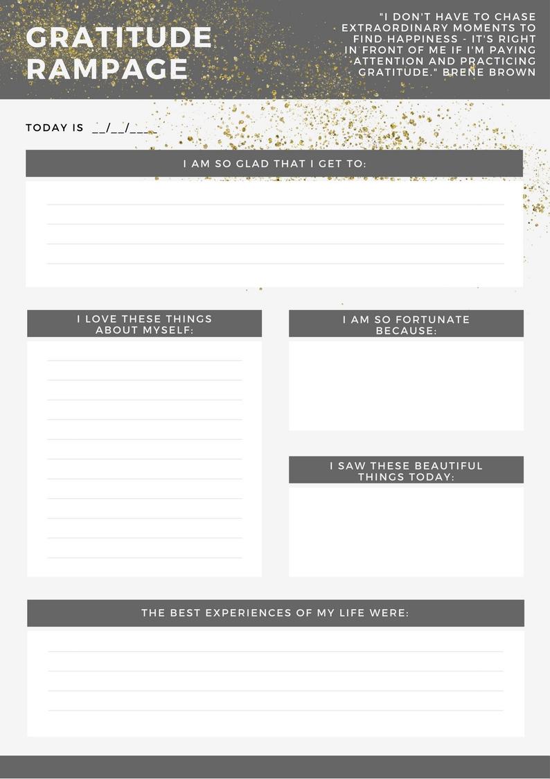 mental health gratitude worksheet