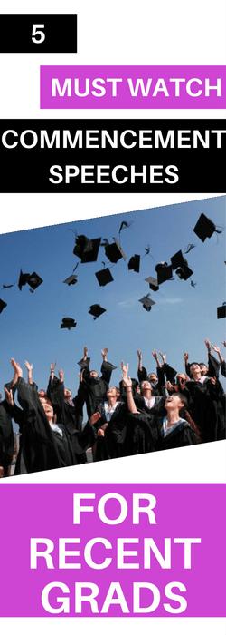 commencement speeches for recent grads