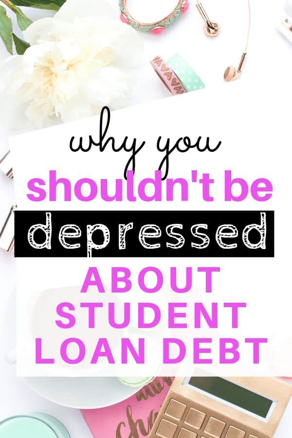depressed about student loan debt