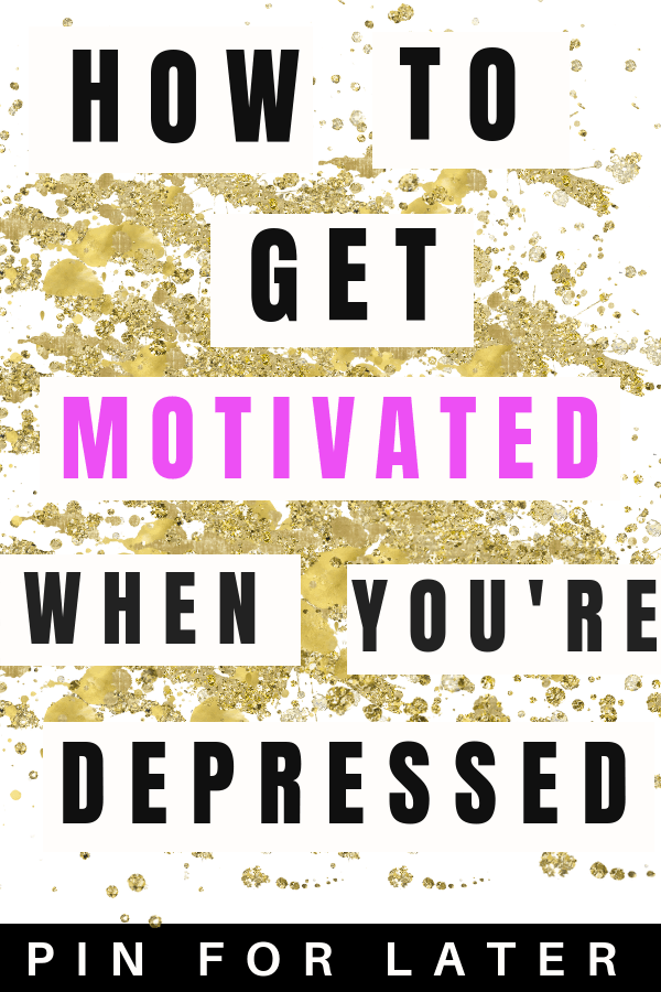 \ How to get motivated when you're depressed | depression | depression tips | overcoming depression | productivity | motivation | mental health
