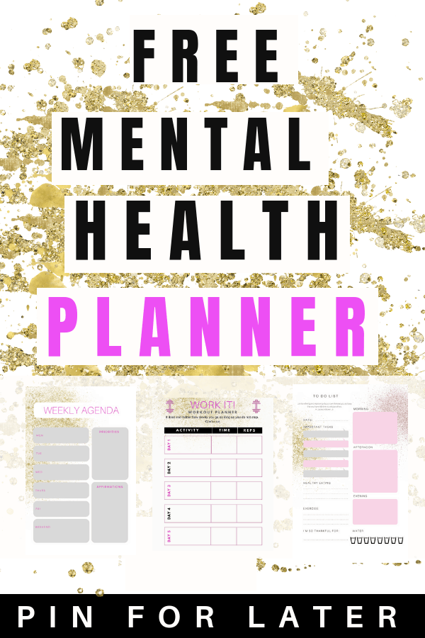 Free mental health planner for depression and anxiety | depressed | printable | mental health tips |