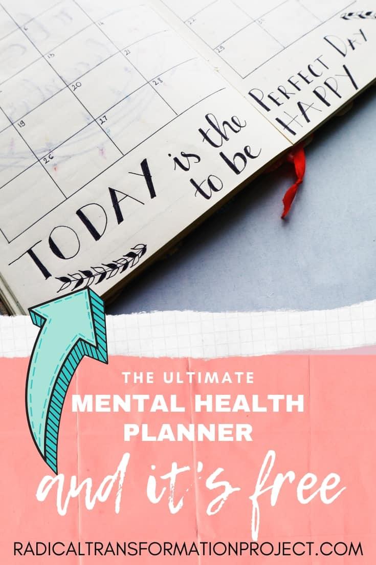 free mental health planner