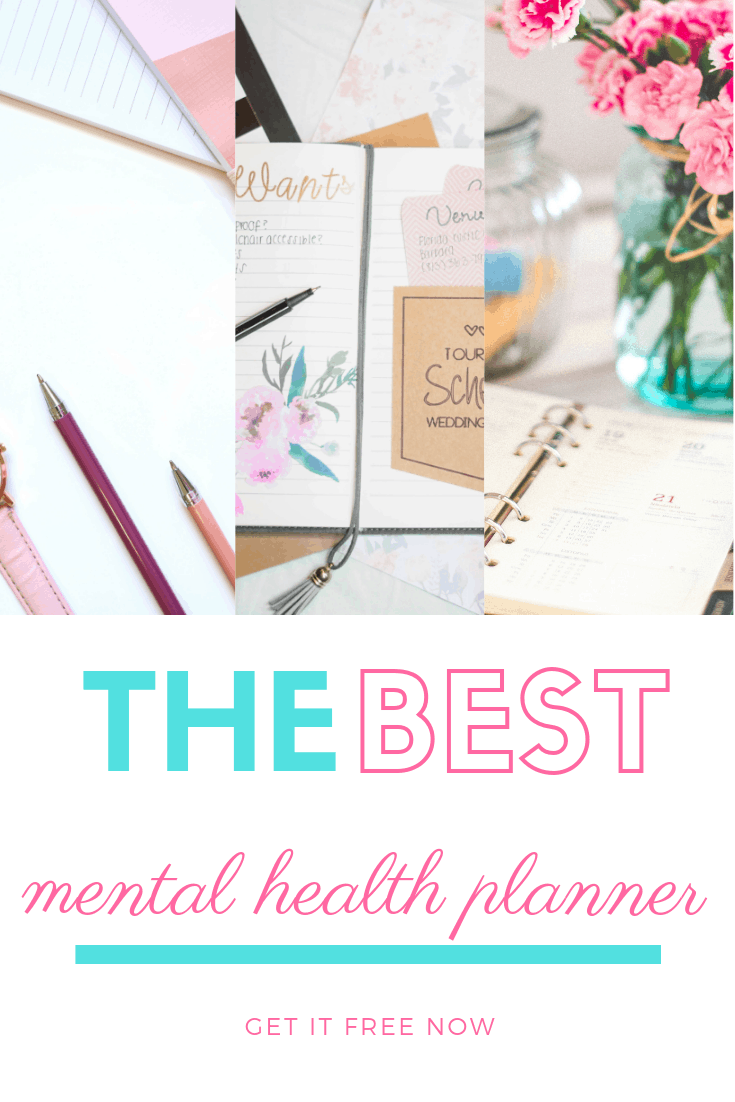 Mental health planner for depression and anxiety