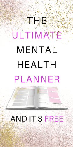 Mental health planner to help with depression and anxiety | printable | planner | healthy coping | depression tips | anxiety coping