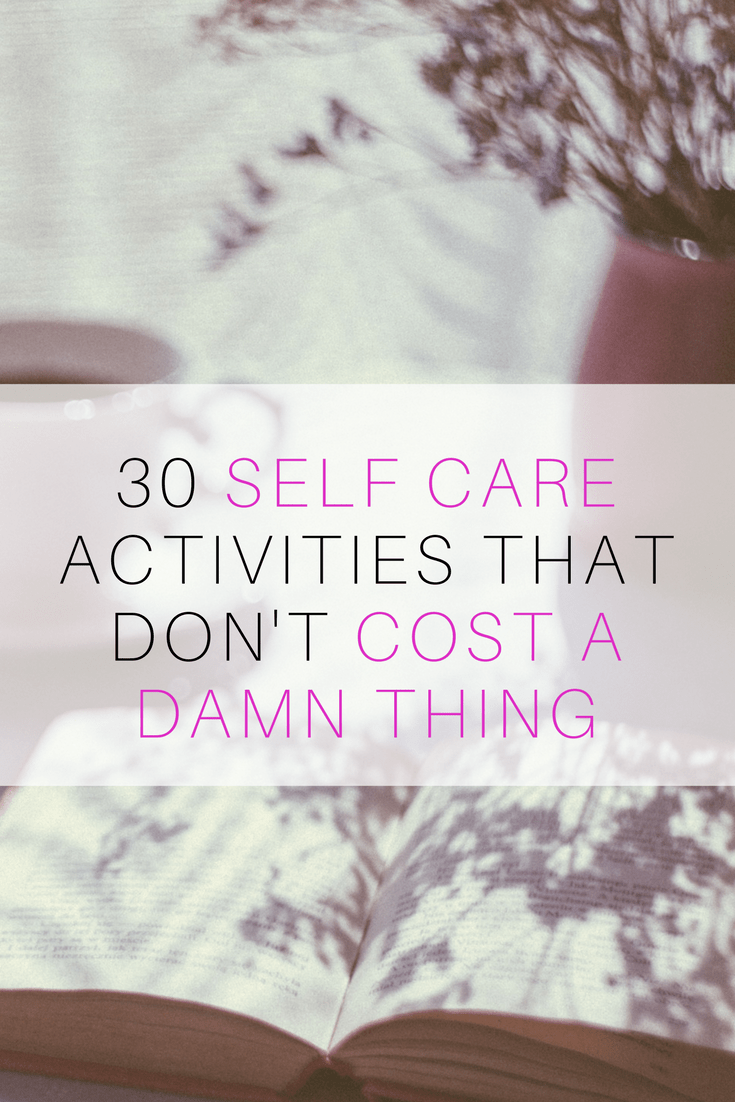 self care pinterest for when you're broke