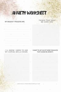Anxiety Worksheet