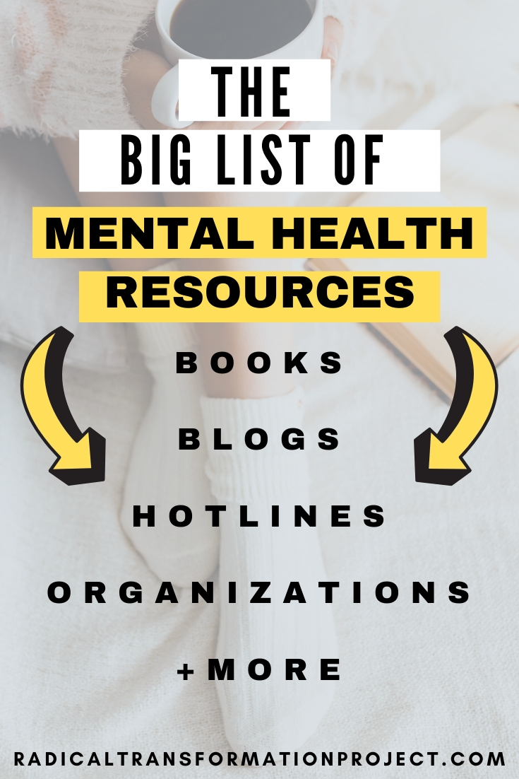 mental health resources list