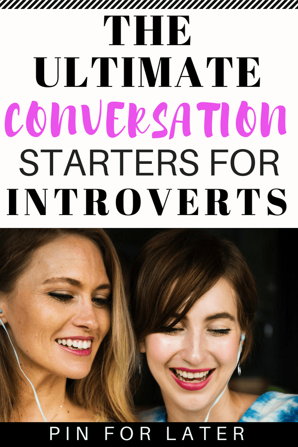 If you're an introvert check out these conversation prompts to have some ideas for small talk ready to go. Being prepared can help manage social anxiety and make interactions easier. #introverts #conversations #socialanxiety #anxiety