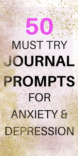 Journal Writing Prompts for Depression an Anxiety