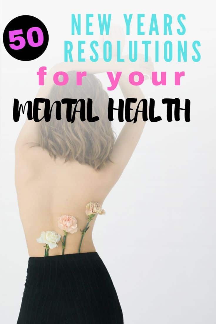 50 resolutions for your mental health