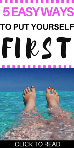 Easy ways to put yourself first | productivity | happiness | self-care | mental health
