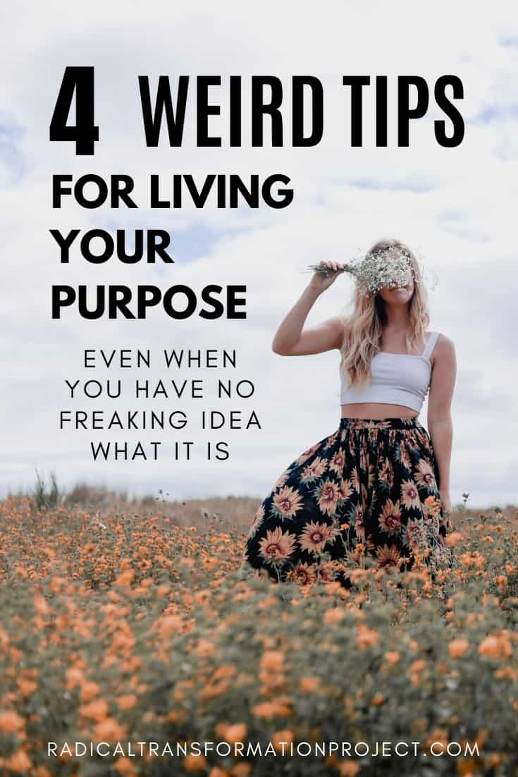 Tips For Living With Purpose Even When you don't know what your purpose is