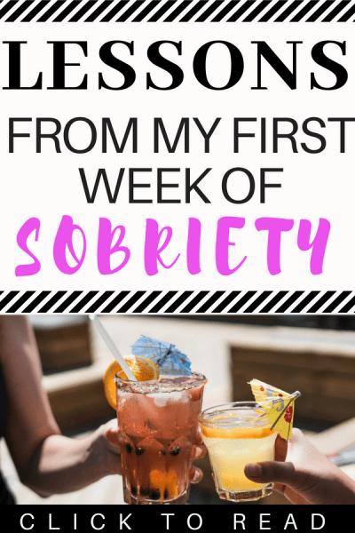One Week Sober: Dry 30 Update