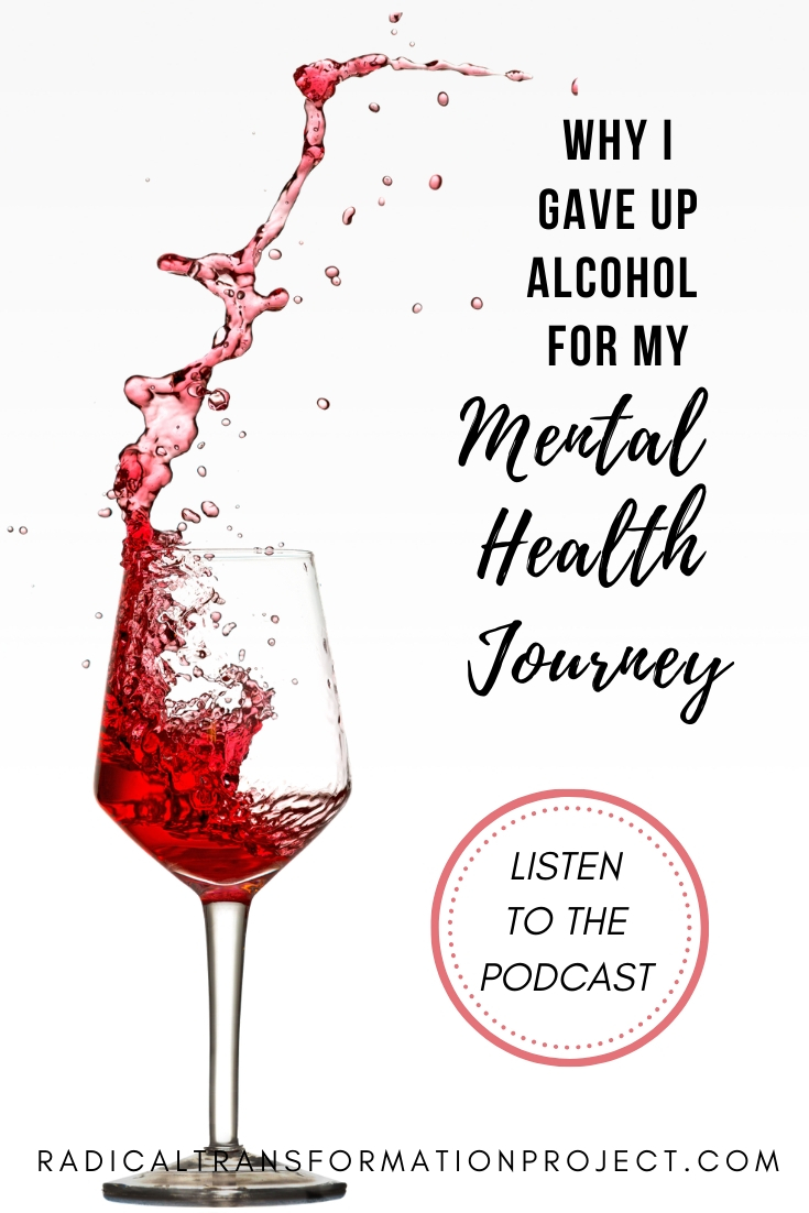 giving up alcohol for mental health