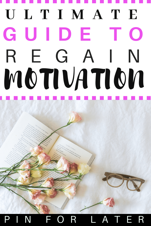 How to regain motivation when you are depressed or don't feel like being productive #selfcare #productivity #mentalhealth #depression