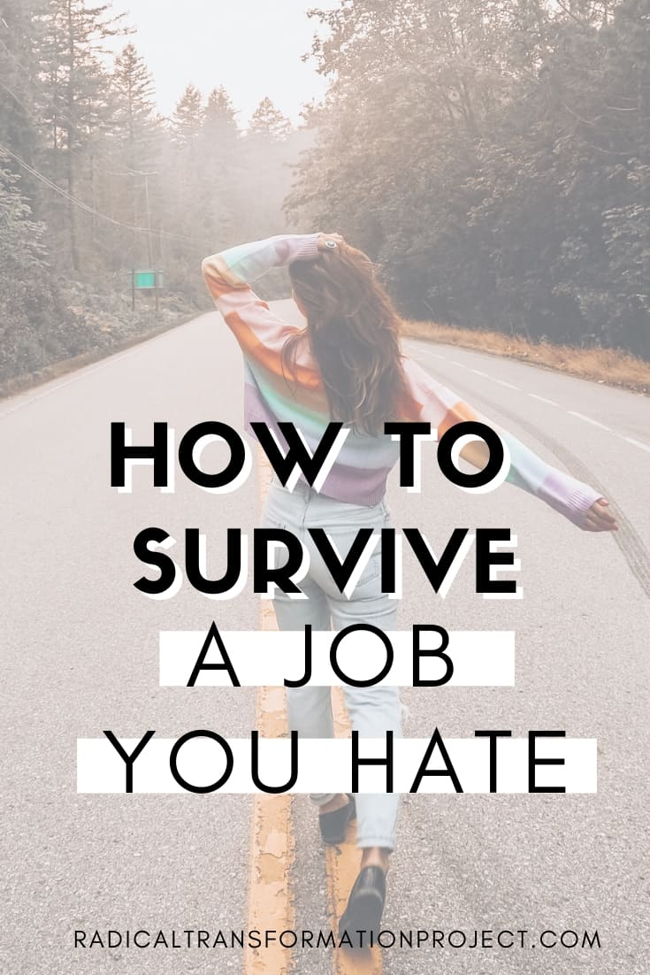 how top survive a job you hate