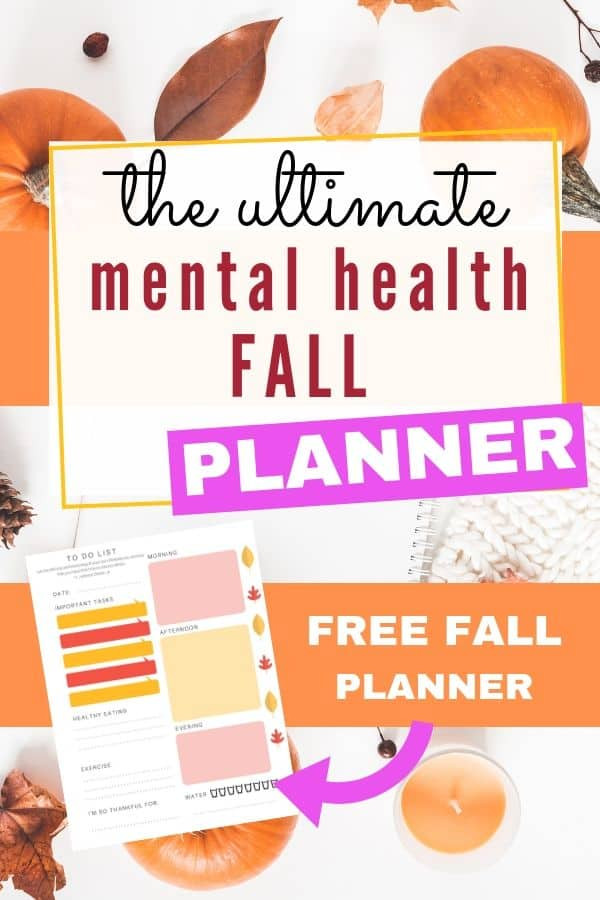 Mental Health Fall Planner