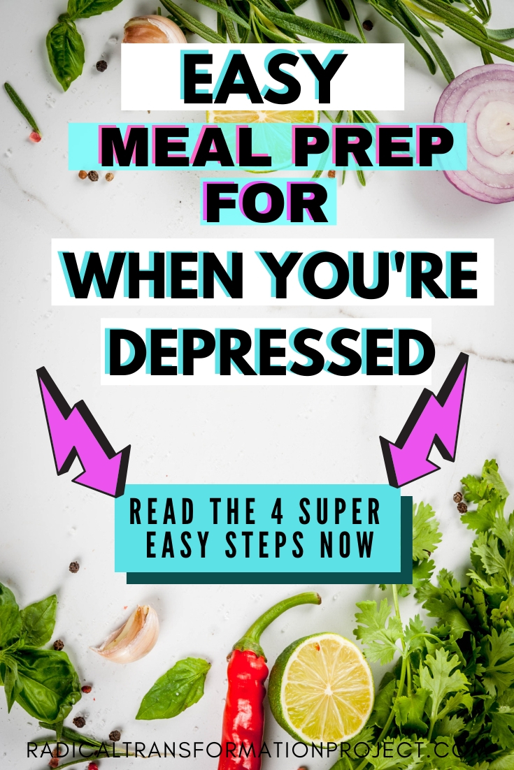 how to meal prep when you're depressed