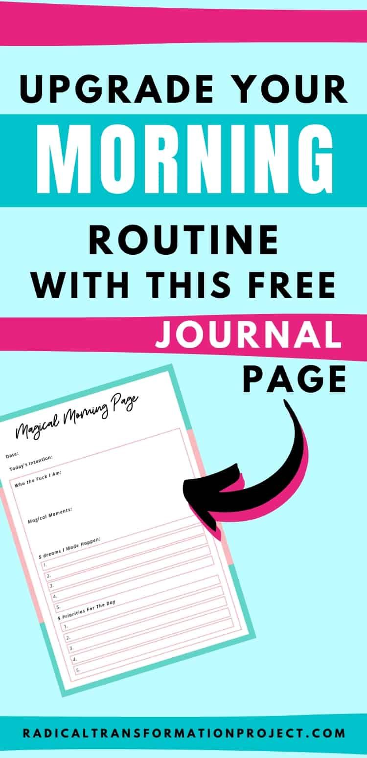 Upgrade Your Morning Routine With This Free Journal Page