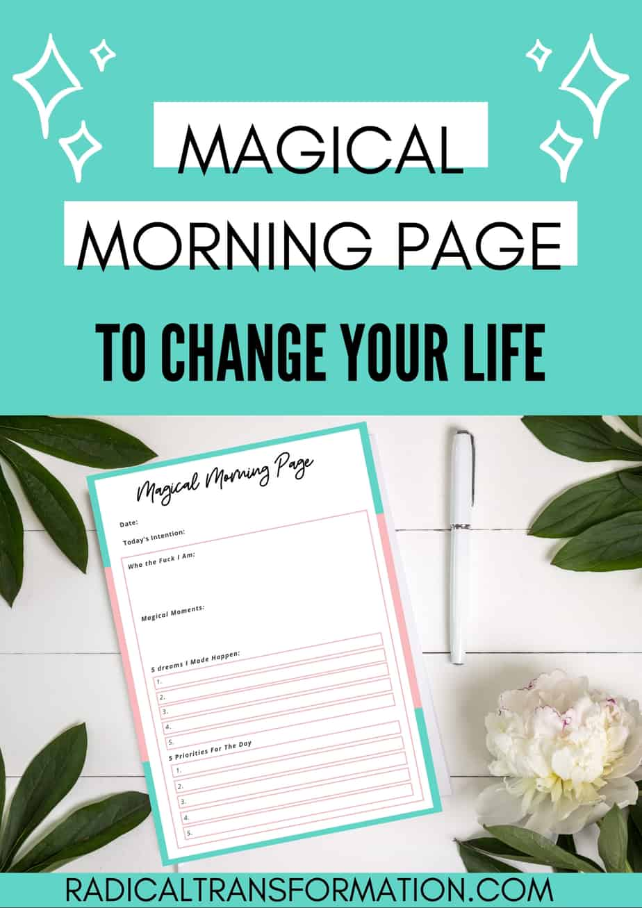 free morning journal prompt mental health