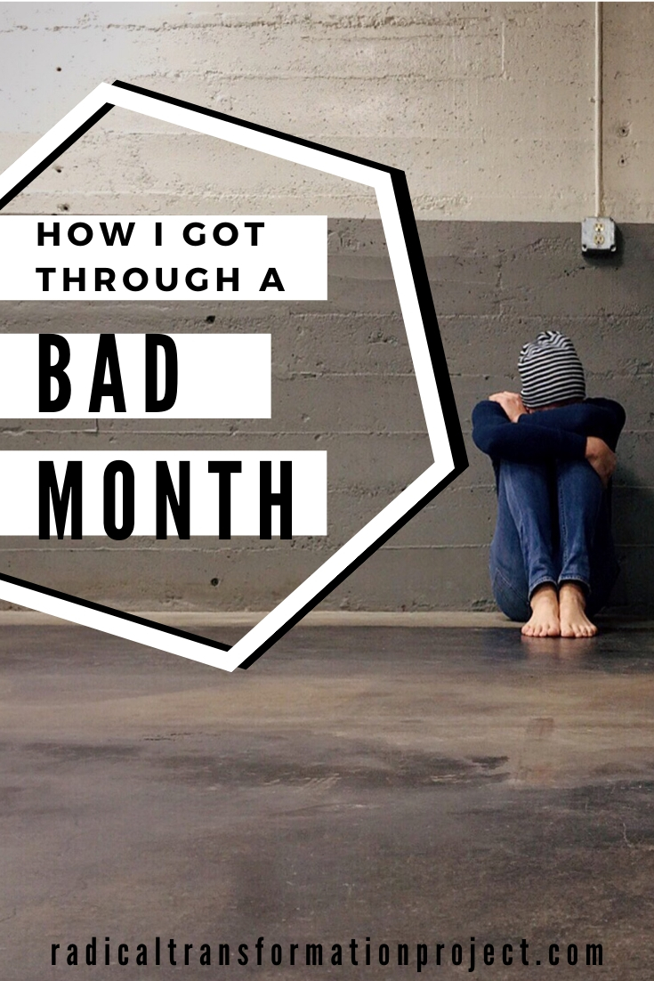 how I got through a bad month mental health
