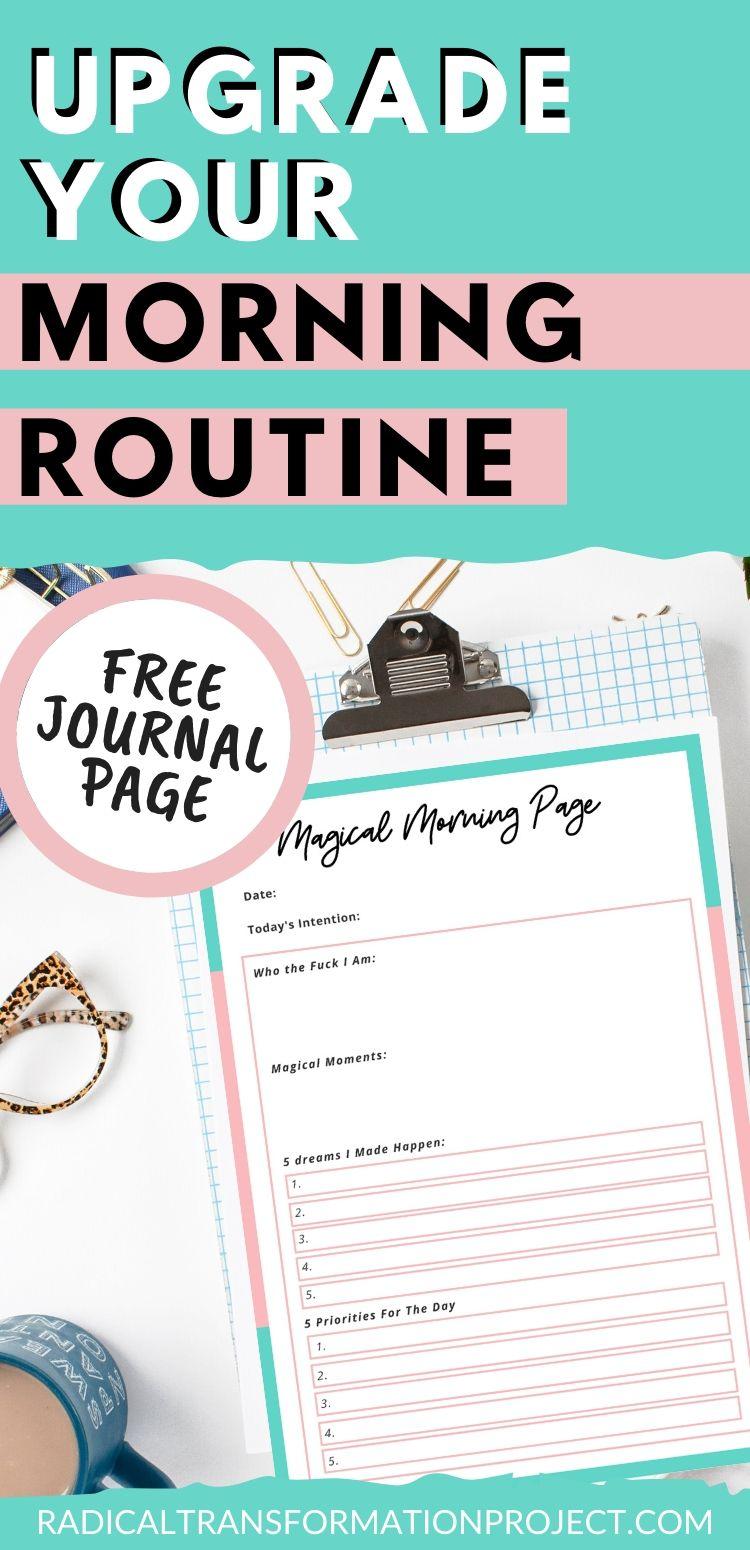 morning journaling page