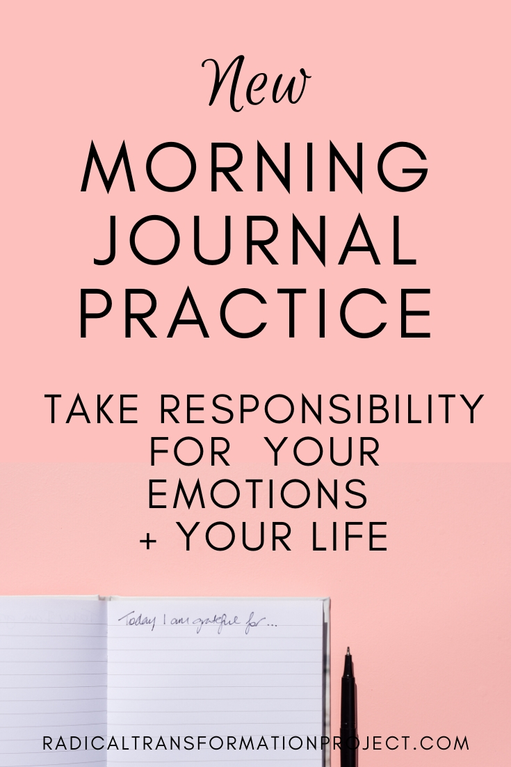 new morning journal practice