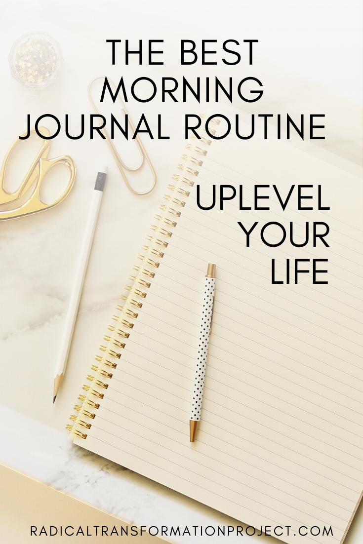 new morning journal routine