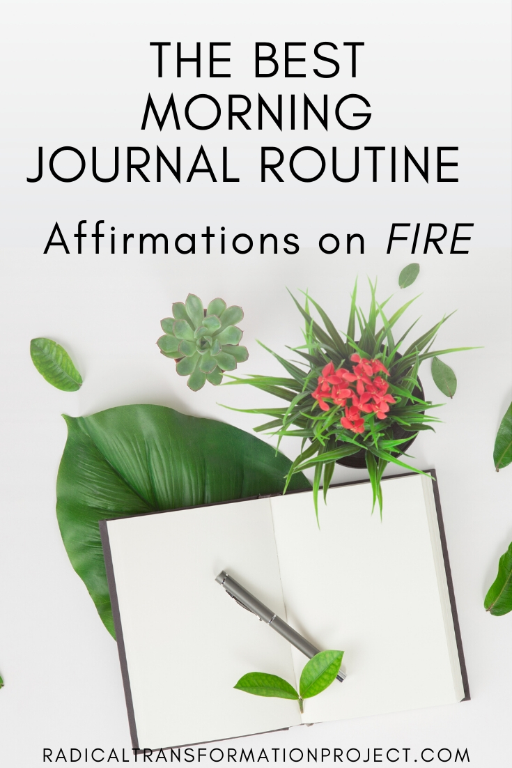 the best morning journal routine