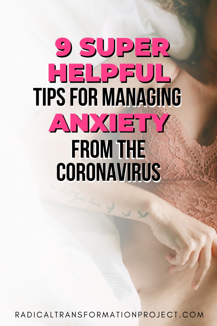managing anxiety from the coronavirus