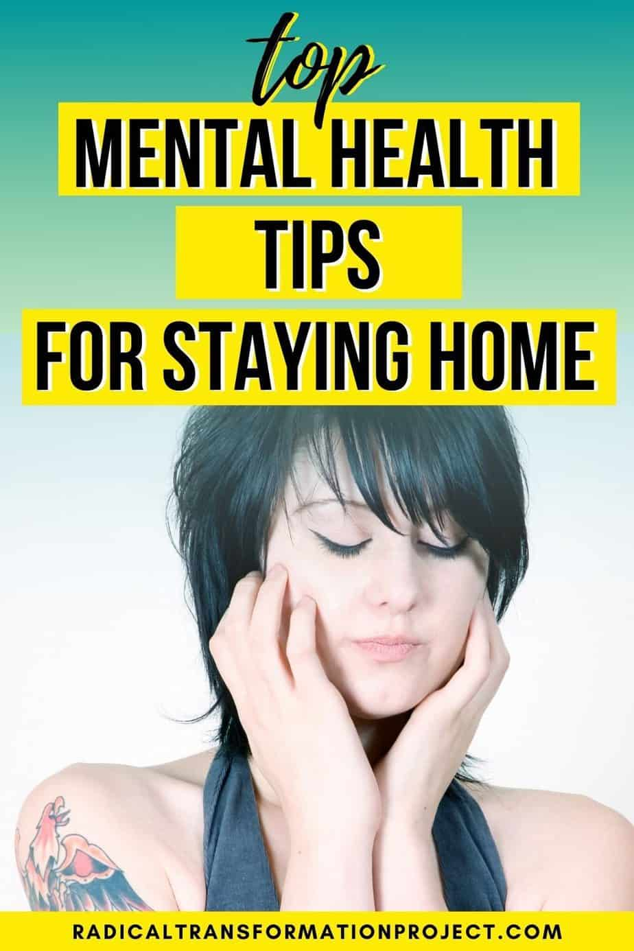 mental health tips for staying home